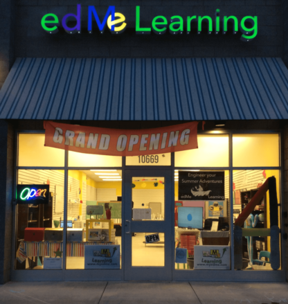 edMe Learning store front at night